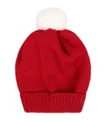 Little Bear Red hat for babykids with pompon
