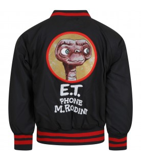 Gray jacket for kids with E.T.