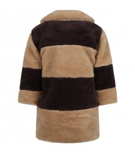 Beige faux-fur for kids with E.T.