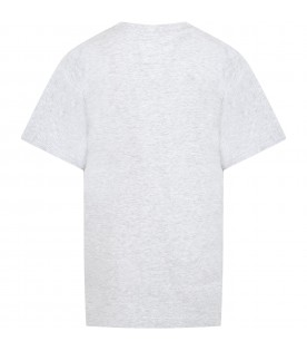 Grey T-shirt for boy with rocket