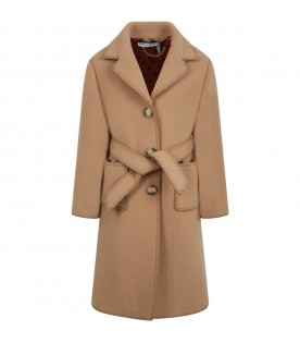 Beige coat for girl