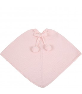 Pink cape for babygirl