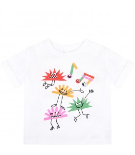 White T-shirt for kids with hedgehogs
