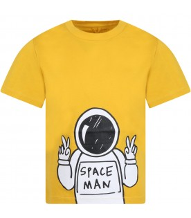Yellow T-shirt for boy with spaceman
