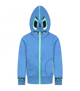Azure sweatshit for boy with monster