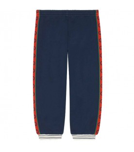 Blue pants for kids with double GG