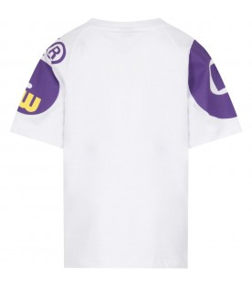 White T-shirt for kids with logo