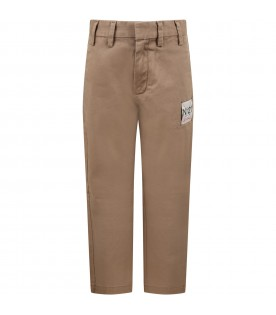 Camel pants for kids with logo