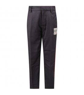Grey pants for kids with logo