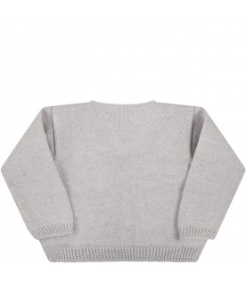 Grey cardigan for babykids