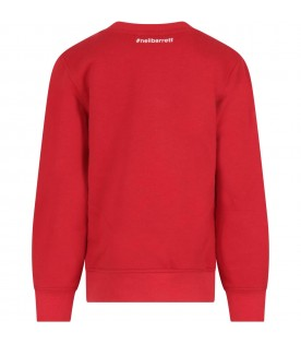 Red sweatshirt for kids with print