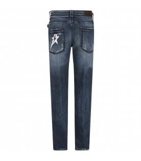 Blue jeans for kids with thunder