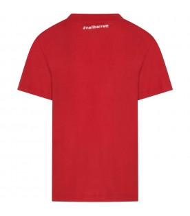 Red T-shirt for kids with thunder