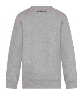 Grey sweatshirt for kids with thunder