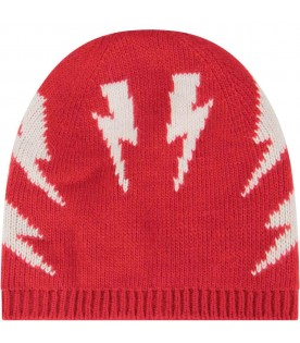 Red hat for boy with thunders