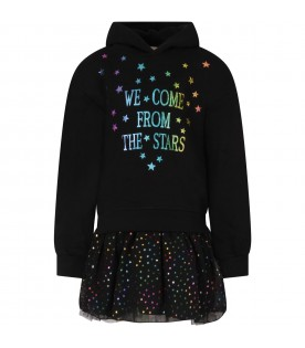 Black dress for girl with stars