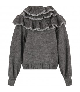Grey sweater for girl