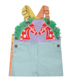 Multicolor overall for babygirl