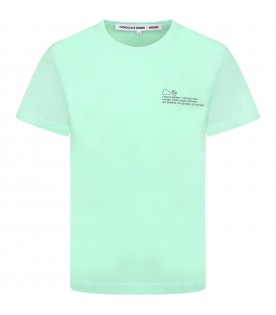 Green T-shirt for kids with logo