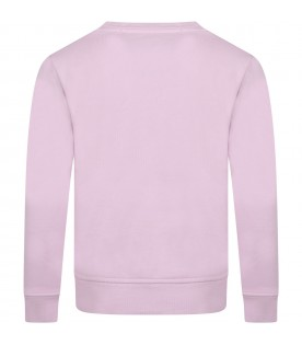 Pink sweatshirt for kids with logo