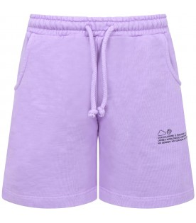 Lilac short for kids with logo