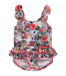 """Multicolor swimwear """"Nalani"""" for babygirl with flowers"""