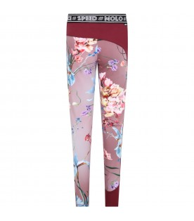 """Pink leggings """"Olympia"""" for girl with zebra stripes"""