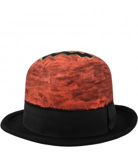 Black hat for kids with pumpkin