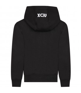 Black sweatshirt for kids with red logo