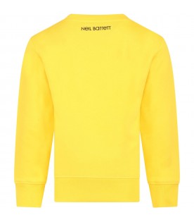 Yellow sweat-shirt for boy