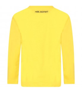 Yellow T-shirt for boy with thunders