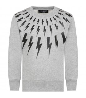 Grey sweat-shirt for boy