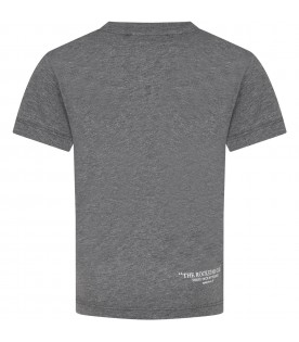 Grey T-shirt for boy with print
