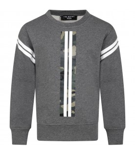 Grey sweatshirt for kids