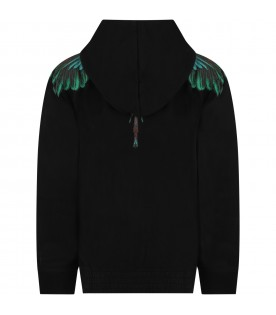 Black sweatshirt for kids with iconic wings