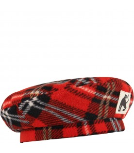 Red beret for girl