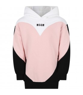 Multicolor sweatshirt for girl qith logo