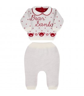 White knit suit for babykids