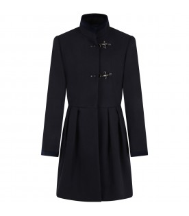 Blue coat for girl