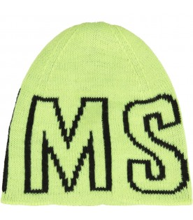 Yellow hat for kids with logo