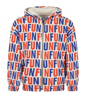Ivory sweatshirt for kids with writing