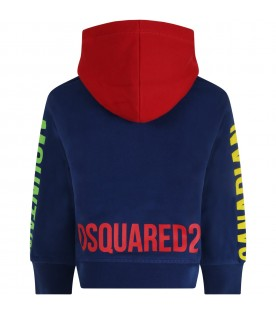 Multicolor sweatshirt for boy with logo