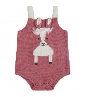 Pink body for babygirl with alpaca
