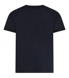 Blue t-shirt for kids with logo