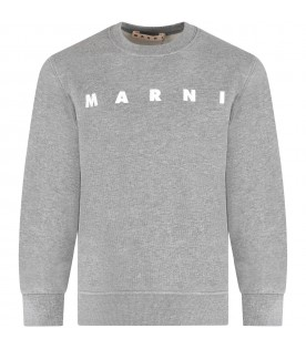 Grey sweatshirt for kids with logo