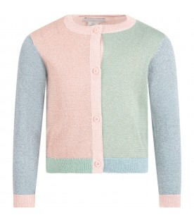 Multicolor cardigan for babygirl with butterfly