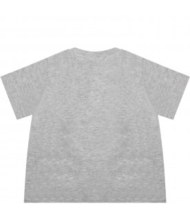 Grey t-shirt for babyboy with pirate