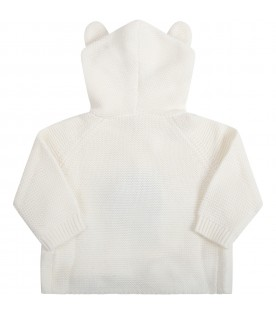 Ivory jacket for kids with ears