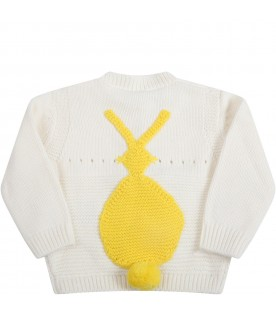 Ivory sweater for babykids with bunny