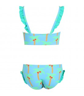 Light blue swimsuit for babygirl